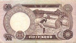 50 Kobo NIGERIA  1973 P.14g TTB+