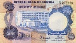 50 Kobo NIGERIA  1973 P.14g NEUF