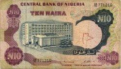 10 Naira NIGERIA  1973 P.17b B
