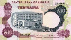 10 Naira NIGERIA  1973 P.17b SUP+