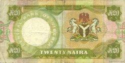 20 Naira NIGERIA  1977 P.18a TB+