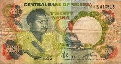 20 Naira NIGERIA  1977 P.18e TB