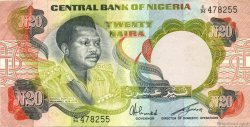 20 Naira NIGERIA  1977 P.18e SUP+