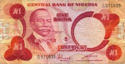 1 Naira NIGERIA  1979 P.19c TB