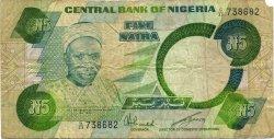 5 Naira NIGERIA  1979 P.20c TB