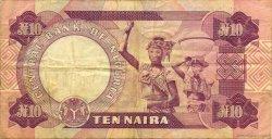 10 Naira NIGERIA  1979 P.21b TB