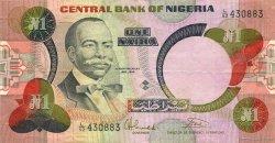 1 Naira NIGERIA  1984 P.23b TTB