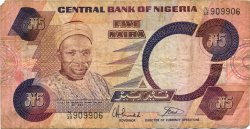 5 Naira NIGERIA  1984 P.24b B+