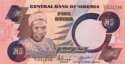 5 Naira NIGERIA  1984 P.24d pr.NEUF