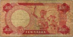 10 Naira NIGERIA  1984 P.25a B+