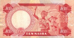 10 Naira NIGERIA  1984 P.25b TTB+
