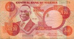 10 Naira NIGERIA  1984 P.25c TB