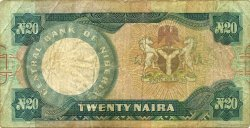 20 Naira NIGERIA  1984 P.26a B+