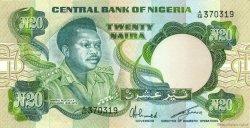 20 Naira NIGERIA  1984 P.26a SPL+