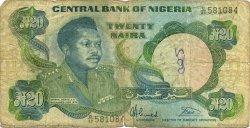 20 Naira NIGERIA  1984 P.26b B
