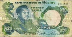 20 Naira NIGERIA  1984 P.26b TB