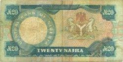 20 Naira NIGERIA  1984 P.26c B