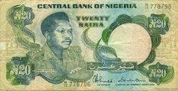 20 Naira NIGERIA  1984 P.26c TB+