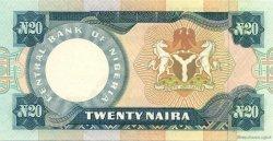 20 Naira NIGERIA  1984 P.26c pr.SPL