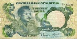 20 Naira NIGERIA  1984 P.26d TTB