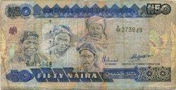 50 Naira NIGERIA  1991 P.27b TB