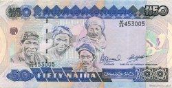 50 Naira NIGERIA  1984 P.27c SUP