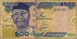 500 Naira NIGERIA  2002 P.30a B