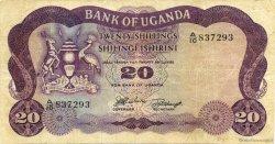 20 Shillings OUGANDA  1966 P.03a TTB
