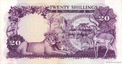 20 Shillings OUGANDA  1966 P.03a