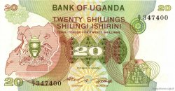 20 Shillings OUGANDA  1982 P.17 pr.NEUF