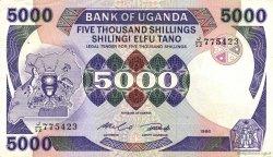 5000 Shillings OUGANDA  1986 P.24b TTB+
