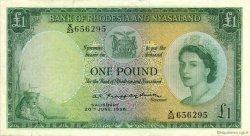 1 Pound RHODÉSIE ET NYASSALAND  1958 P.21a SUP