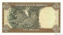 5 Dollars RHODÉSIE  1978 P.32b NEUF