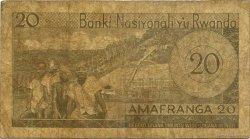 20 Francs RWANDA  1976 P.06e AB