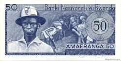 50 Francs RWANDA  1964 P.07a SPL