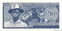 50 Francs RWANDA  1969 P.07a SUP