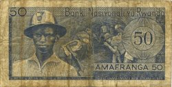 50 Francs RWANDA  1971 P.07b B