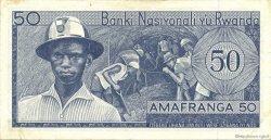 50 Francs RWANDA  1971 P.07b TTB