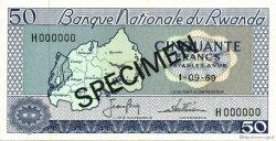 50 Francs RWANDA  1969 P.07s1 pr.NEUF