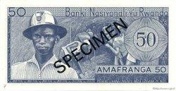 50 Francs RWANDA  1969 P.07s2 NEUF