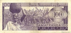 100 Francs RWANDA  1966 P.08a TTB
