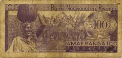 100 Francs RWANDA  1971 P.08c B