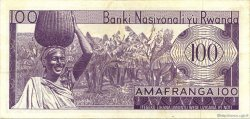 100 Francs RWANDA  1971 P.08c pr.SUP