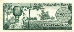 500 Francs RWANDA  1976 P.09b TTB+