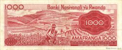 1000 Francs RWANDA  1969 P.10a TTB+