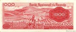 1000 Francs RWANDA  1971 P.10b SUP