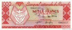 1000 Francs RWANDA  1974 P.10b NEUF