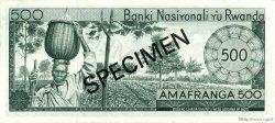 500 Francs RWANDA  1974 P.11s NEUF