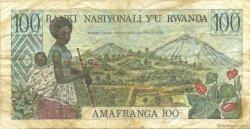 100 Francs RWANDA  1978 P.12a TB