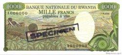 1000 Francs RWANDA  1978 P.14s NEUF